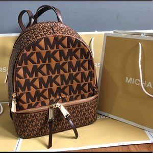 $328 Michael Kors Rhae Backpack Handbag MK Bag